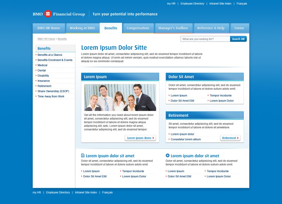 BMO HR Intranet subpage